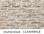 Old Brick Wall In A Light Beige ...