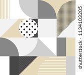 bauhaus style bold abstract... | Shutterstock .eps vector #1134103205