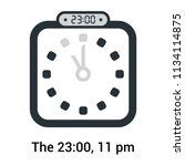 the 23 00  11 pm icon isolated...   Shutterstock .eps vector #1134114875