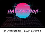 hackathon event template.... | Shutterstock .eps vector #1134124955