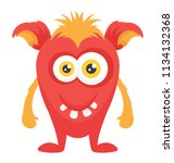 an ugly creature with fearful... | Shutterstock .eps vector #1134132368
