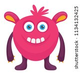 a cartoon character in round... | Shutterstock .eps vector #1134132425