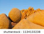 round mojave desert rocks at... | Shutterstock . vector #1134133238