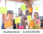 business people meeting at... | Shutterstock . vector #1134135338