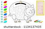 worksheet with exercises for... | Shutterstock .eps vector #1134137435