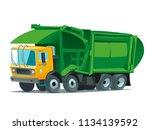 garbage truck illustration...   Shutterstock .eps vector #1134139592
