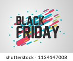 black friday  beautiful... | Shutterstock .eps vector #1134147008