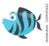 a freshwater tropical fish... | Shutterstock .eps vector #1134151622
