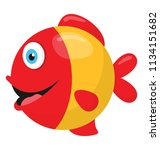 a smiley face colorful fish... | Shutterstock .eps vector #1134151682