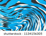 color trendy twisted lines... | Shutterstock .eps vector #1134156305