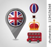 united kingdom places flag | Shutterstock .eps vector #1134156368
