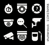 filled security icon set such... | Shutterstock .eps vector #1134156446