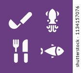 filled food icon set such as... | Shutterstock .eps vector #1134157076