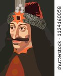 vlad iii dracula tepes  the... | Shutterstock .eps vector #1134160058