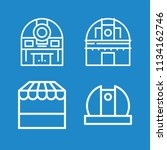 outline buildings icon set such ... | Shutterstock .eps vector #1134162746