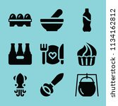 filled food icon set such as... | Shutterstock .eps vector #1134162812