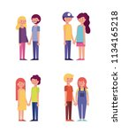 people park and city | Shutterstock .eps vector #1134165218
