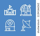 outline buildings icon set such ... | Shutterstock .eps vector #1134166262