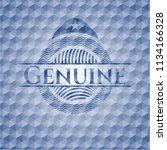 genuine blue emblem or badge... | Shutterstock .eps vector #1134166328