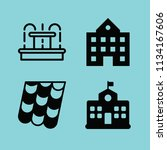 filled buildings icon set such... | Shutterstock .eps vector #1134167606
