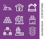 outline buildings icon set such ... | Shutterstock .eps vector #1134167666