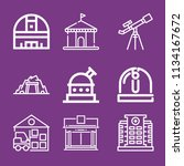 outline buildings icon set such ... | Shutterstock .eps vector #1134167672