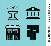 filled buildings icon set such... | Shutterstock .eps vector #1134168086