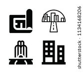 filled buildings icon set such... | Shutterstock .eps vector #1134168206