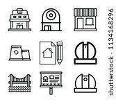 outline buildings icon set such ... | Shutterstock .eps vector #1134168296