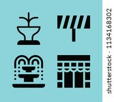 filled buildings icon set such... | Shutterstock .eps vector #1134168302