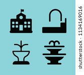 filled buildings icon set such... | Shutterstock .eps vector #1134169016