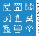 outline buildings icon set such ... | Shutterstock .eps vector #1134169412