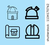 outline buildings icon set such ... | Shutterstock .eps vector #1134170762