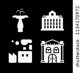 filled buildings icon set such... | Shutterstock .eps vector #1134170972