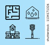 outline buildings icon set such ... | Shutterstock .eps vector #1134171326
