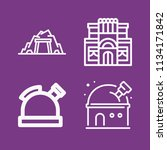 outline buildings icon set such ... | Shutterstock .eps vector #1134171842