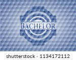 bachelor blue badge with... | Shutterstock .eps vector #1134172112
