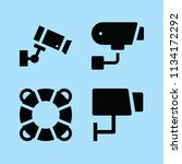 filled security icon set such... | Shutterstock .eps vector #1134172292