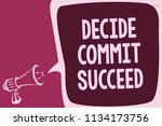 word writing text decide commit ... | Shutterstock . vector #1134173756