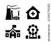 filled buildings icon set such... | Shutterstock .eps vector #1134174182