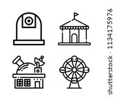 outline buildings icon set such ... | Shutterstock .eps vector #1134175976