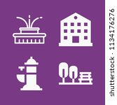 filled buildings icon set such... | Shutterstock .eps vector #1134176276
