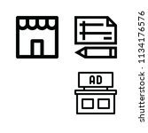 outline buildings icon set such ... | Shutterstock .eps vector #1134176576