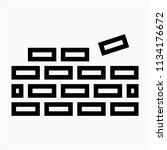 outline building worker pixel... | Shutterstock .eps vector #1134176672