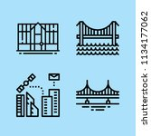 outline buildings icon set such ... | Shutterstock .eps vector #1134177062