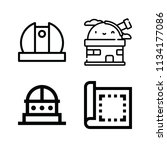 outline buildings icon set such ... | Shutterstock .eps vector #1134177086