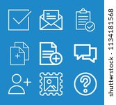 outline interface icon set such ...   Shutterstock .eps vector #1134181568