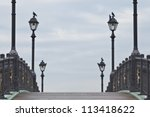 Old Bridge With Lamps And The...