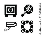 filled security icon set such... | Shutterstock .eps vector #1134187646