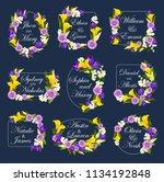 wedding greeting card of... | Shutterstock .eps vector #1134192848